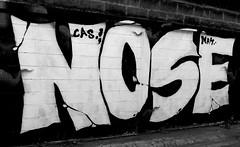 graffiti and streetart in chiang mai (wojofoto) Tags: graffiti streetart thailand chiangmai wojofoto wolfgangjosten nose cas blackandwhite zwartwit