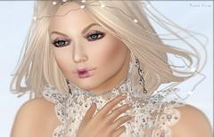 827 – Angelic Mireille (Sannita_Cortes) Tags: secondlife sl styles fashion female secondlifefashion tableauvivant ikon zibska sinfulcurvesskins heartsdalejewellery swank ipnails indigo collabor collabor88 fairy angel fantasy lace collar earring jewellery eyeshadow lipstick makeup
