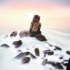 Frozen in time (FredConcha) Tags: naudoscorvos peniche portugal rocks cliffs bifstopper lee nikon d800 landscape nature fredconcha sunset