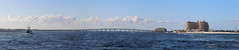 Destin, Florida (fisherbray) Tags: fisherbray usa unitedstates florida okaloosacounty destin southernstar cruise dolphin canon eosrebel eosrebelt6 autostitch panorama eastpass water wasser emeraldgrande resort hotel bridge marlerbridge