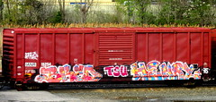 bred - henry95 TSU (timetomakethepasta) Tags: bred henry95 freight train graffiti art boxcar ianr benching selkirk new york photography tsu