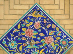Floral and birds Iran tileworks on brick - Niavaran palace, Tehran (Germán Vogel) Tags: asia westasia middleeast middleeastculture iran iranian iranianculture muslimculture travel traveldestinations traveltourism touristattractions tourism tehran niavaran niavaranpalace palace brick tilework tile floral decoration design pattern art wall bird