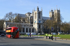 Tribute (dhcomet) Tags: westminster london democracy parliament uk terror terrorist attack defiance politics defend police tribute square floral church abbey stmargarets tfl new routemaster