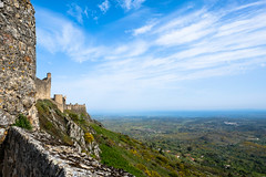 View from the Castle (raquelralbano) Tags: green blue sky castle spring walls stone
