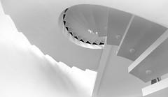Pelikan (pix-4-2-day) Tags: pelikan tintenturm hannover hanover treppe wendeltreppe staircase stairwell stairs spiral pelikanviertel monochrome schwarzweis black white highkey
