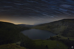 Startrails over Lough Tay... [Explored March 28th 2017] (fearghal breathnach) Tags: night nightsky longexposure startrails loughtay wicklowmountains ireland canoneos5dmarkiii lake astro astrophotography