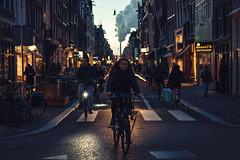 Haarlemerstraat (tommyferraz) Tags: amsterdam netherlands dutch evening sunset haarlemmerstraat jordaan bikes night