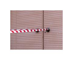 4150042 (ufuk tozelik) Tags: ufuktozelik stripe entrance door handle bronze pink lines red urban