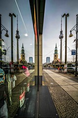 BERLIN - reflection (Klaus Mokosch) Tags: berlin spiegelung reflection city cityscape urban mirrow klausmokosch hdr germany fernsehturm televisiontower church ddr architecture architektur