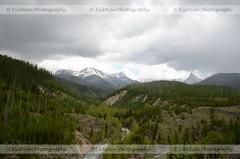 Glacier's Landscape (ficktionphotography) Tags: clouds glaciernationalpark landscape montana mountains nature river roadtrip sky trees water roadtrip2013