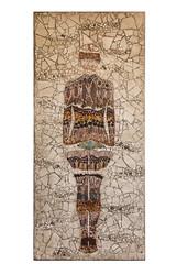 Weather on Steroids Exhibit (Scripps_Oceanography) Tags: climate science climatechange art artwork dust mosaic humanfigure