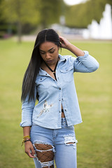 Blue Robyn (Will Harold Photography) Tags: blue denim robyn claire portrait portraiture letchworth hertfordshire herts female model grass green