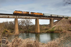 CSX Q684-23 (Steve Hardin) Tags: ge ac4400cw cartersville ga georgia etowah river bridge trestle unionpacific csx westernatlantic railroad railway railfan manifest freight train wa