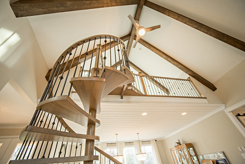 Spiral staircase by Andronic's Construction in Charlotte NC