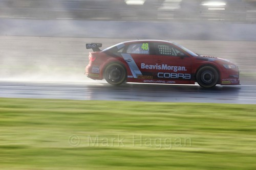 Ollie Jackson in race three at the British Touring Car Championship 2017 at Donington Park