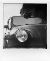 140417001 (francescoccia) Tags: francescoccia london uk cab taxi impossible impossibleproject polasonic polaroid instant blackwhite bw bn analog analogue