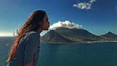 BLOW (CUMBUGO) Tags: cloud aun sky rock mountain girl woman portret water ocean blue hair cape town south africa shadow color iphone 7 plus sunlight daytime fun art light sunglass ray ban