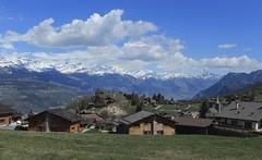 Nax (bulbocode909) Tags: valais suisse nax valdhérens montagnes nature paysages printemps villages nuages maisons vert bleu