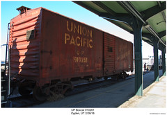 UP Boxcar 910261 (Robert W. Thomson) Tags: up unionpacific boxcar traincar railcar rollingstock train trains railroad railway ogden utah