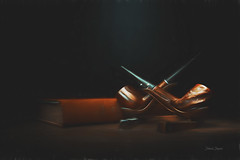 Pipes still life (Deborah Shupenis) Tags: pipes book stilllife antique lightpainting fineart smoke smoking tobacco