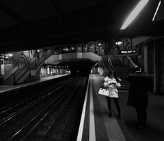 London underground at night (SkipOkl) Tags: late night london underground uk bw blackwhite blackandwhite black white train monochrome passionphotography