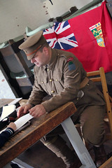 Faces of Vimy Ridge: Signing up new recruits (Can Pac Swire (away for a bit)) Tags: toronto ontario canada canadian forces armed army fortyork national historic site reenactment worldwar one 1 i wwi great war 1917 battle vimyridge 2017 100th 100 anniversary centenary remembrance 2017aimg7976 soldier