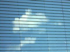 Blue Sky Fascade (Ed Sax) Tags: blau himmel reflektion glas fassade hamburg freeandhansatownofhamburg freieundhansestadthamburg poppenbüttel aez shoppingmall mall einkaufszentrum ekz