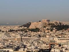 Athens morning (Rob Hall -) Tags: athens greece acropolis morning sunshine warmth warm city sea port