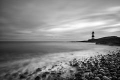 Penmon Mono (jactoll) Tags: penmon anglessy wales lighthouse irish sea beach waves mono bw black white landscape sony a7ii zeiss 1635mmf4 jactoll