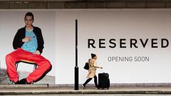 Reserved - Opening Soon (stevedexteruk) Tags: reserved bhs britishhomestores woman suitcase 2017 marylebone london uk city westminster fashion billboard advertising