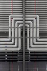 The way of life (Bernd Machmueller) Tags: leitung pipeline leiten führung luft gas abluft zuluft synkron gleich rohre weg way rod grey grau arrow pfeil richtung architektur