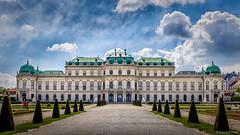 Belvedere Palace (upper), Vienna (hunblende) Tags: palace belvedere belvederepalace vienna outside buildings publicpark publicspace public barock baroque schloss