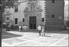 Iglesia de San Agustin (Fotorob) Tags: lichtschaduw voorwerpenoppleinened kerk kerkenkerkonderdeel spanje religieuzegebouwen tafereel city erfscheiding deurenramen analoog anoniem architecture españa spain architectura architectuur cadiz andalusia