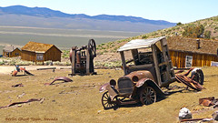 Abandoned 1918 Dodge (Jolita Kievišienė) Tags: america usa nevada berlin ghost town dodge 1918 abandoned old classic antique vintage rusty car truck american