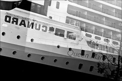 window in between (ati sun) Tags: reflection ship harbour hamburg queenmary2 hafengeburtstag