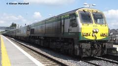 223 at Portlaoise, 17/5/13 (hurricanemk1c) Tags: irish train rail trains caf 201 mkiv 223 generalmotors portlaoise emd 4007 2013 iarnródéireann 1400heustoncork