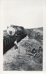 Avoca, Iowa, Train Wreck, Rock Island Railroad (photolibrarian) Tags: engine iowa locomotive avoca trainwreck rockislandrailroad