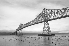 astoria-megler (dalioPhoto) Tags: bridge blackandwhite bw film water horizontal oregon analog port 35mm river landscape washington nikon columbia structure astoria megler f4s oregoncoasthighway daliophoto marcdalioall