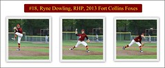 Ryne.Dowling.18.rhp.collage (Paul L Dineen) Tags: 2013 baseball fortcollins colorado fortcollinsfoxes foxes woodenbat 18 ryandowling sports smnotchecked pitch baseballnov17 csl csl2014to2016 csltodo isdone collage collagejuly2017 college city