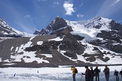 AA Glacier (jessica @ flickr) Tags: trip travel canada mountains beautiful rockies outdoors glacier alberta banff wilderness banffnationalpark icefield parkscanada columbiaicefield canadianrockies icefieldparkway banffab