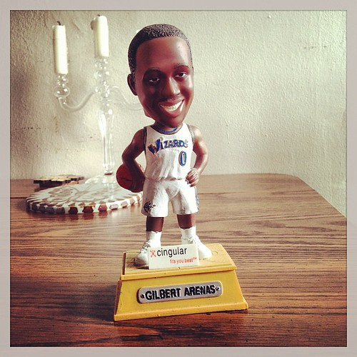 Found this Gilbert Arenas bobble head today for two bucks & fifty cents. #Wizards