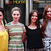 Amy Manson, Freya Mavor, Kate Dickie and Karen Gillan arriving for the World Premiere of Not Another Happy Ending at Festival Theatre