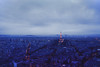 Paris (Danielle Pearce) Tags: above sunset sky paris tower night canon landscape dawn pretty tour cloudy mark eiffel ii 5d
