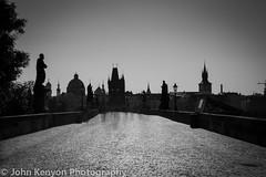 Dawn at Charles Bridge B&W (johnkenyonphotography@gmail.com) Tags: longexposure travel art beautiful beauty scenery europe prague praha czechrepublic slomo easterneurope centraleurope ndfilter