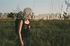 (Clément Champy) Tags: wild portrait tree film nature girl analog 35mm mood doubleexposure grain canona1 doubleexposition arbre ambiance pellicule argentigue