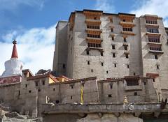 P1020697 Old town, chorten left, and Palace, Leh. Ladakh. PS  (peteshep) Tags: architecture ps palace chorten leh ladakh wmf peteshep copyrightphoto fz200 july9th2013 langenlat34165387lon77586007z17mbsearchleh