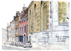 Liège, Fond Saint-Servais (gerard michel) Tags: architecture belgium aquarelle watercolour rue liège croquis