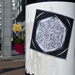 Sticker (Akbar Sim) Tags: streetart holland netherlands sticker stickerart nederland denhaag thehague 524 agga akbarsimonse akbarsim