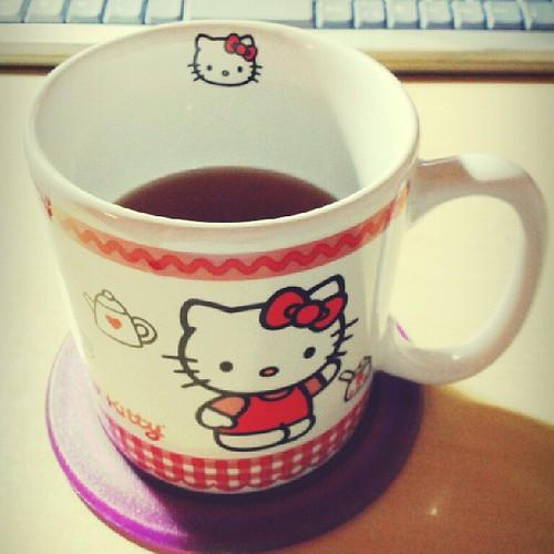 Tomando um chá...