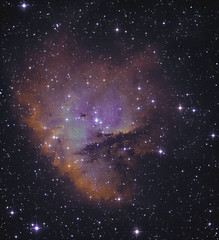 NGC 281 HST Palette (Chuck Manges) Tags: pacman ngc281 qhy qhy9m ed102t